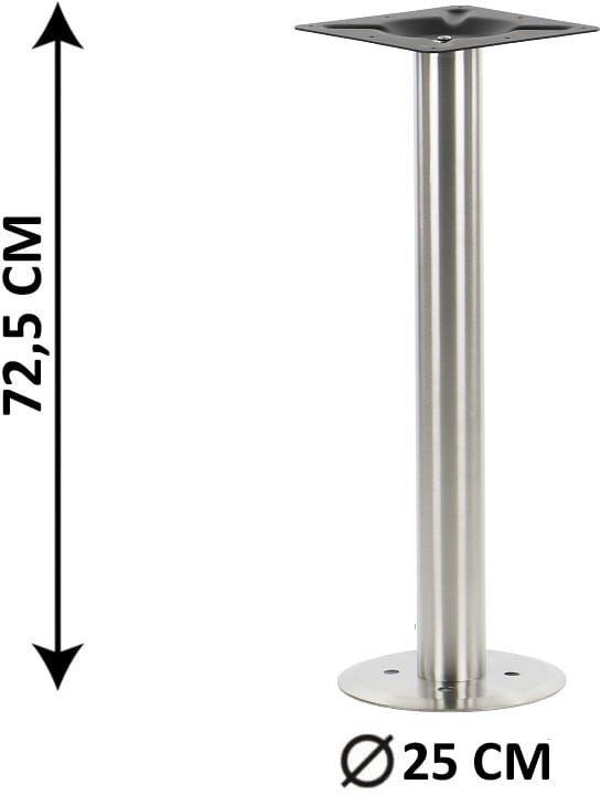 Podstawa mocowana do podłoża SH-3017-2/S, stal nierdzewna szczotkowana (do stołu, stolika, podłogi)