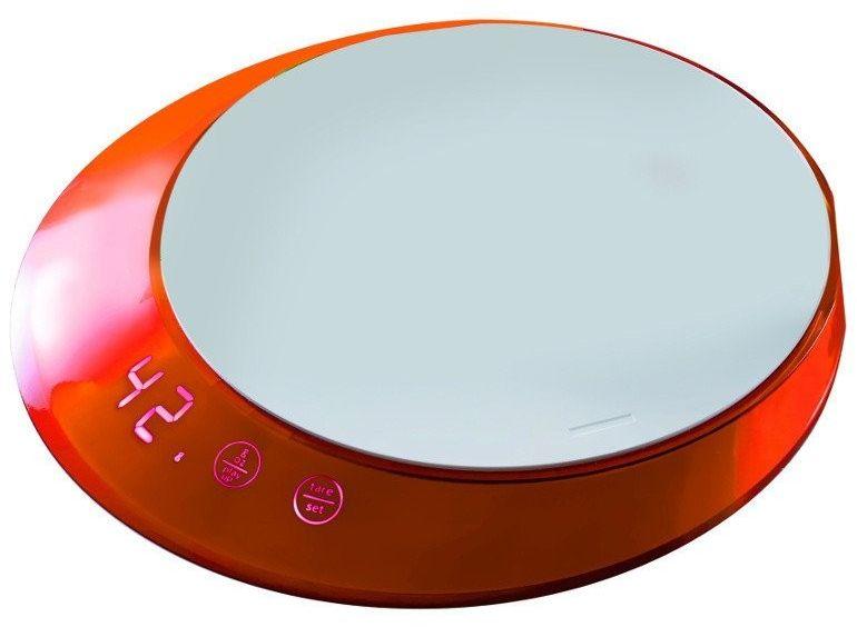 Casa bugatti - glamour - waga elektroniczna z timerem - pomarańczowa - pomarańczowy