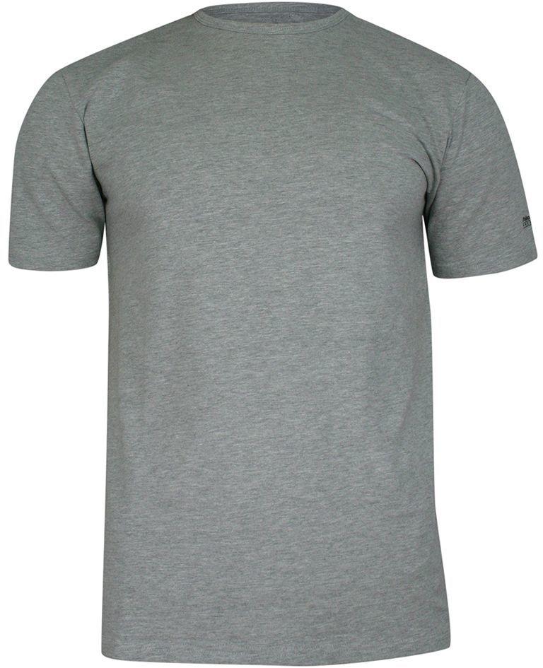 T-shirt Popielaty Gładki Bawełniany, Męski, Krótki Rękaw, U-neck -PAKO JEANS TSPJNSSIMPLEpp