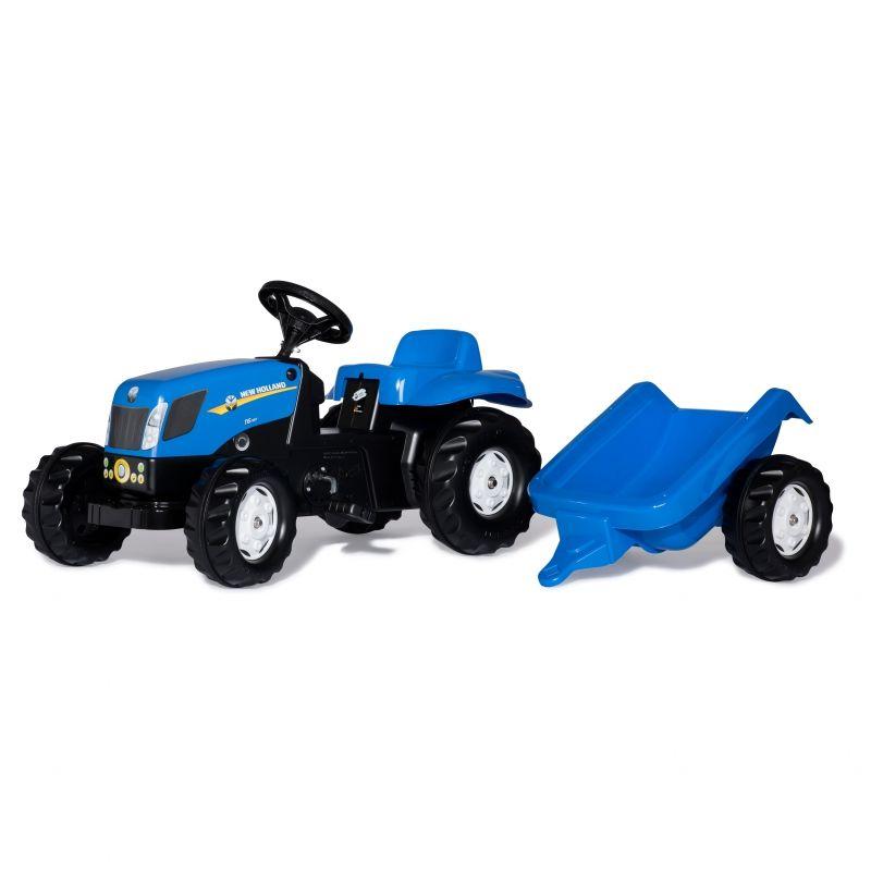 Rolly Toys rollyKid Traktor na pedały New Holland z przyczepką LK