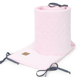MAMO-TATO Ochraniacz do łóżeczka 60x120 oraz 70x140 Velvet PIK - Jasny róż