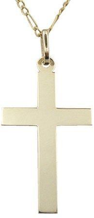 Krzyżyk z żółtego złota WEC-Z-MED-KRZYŻYK-3