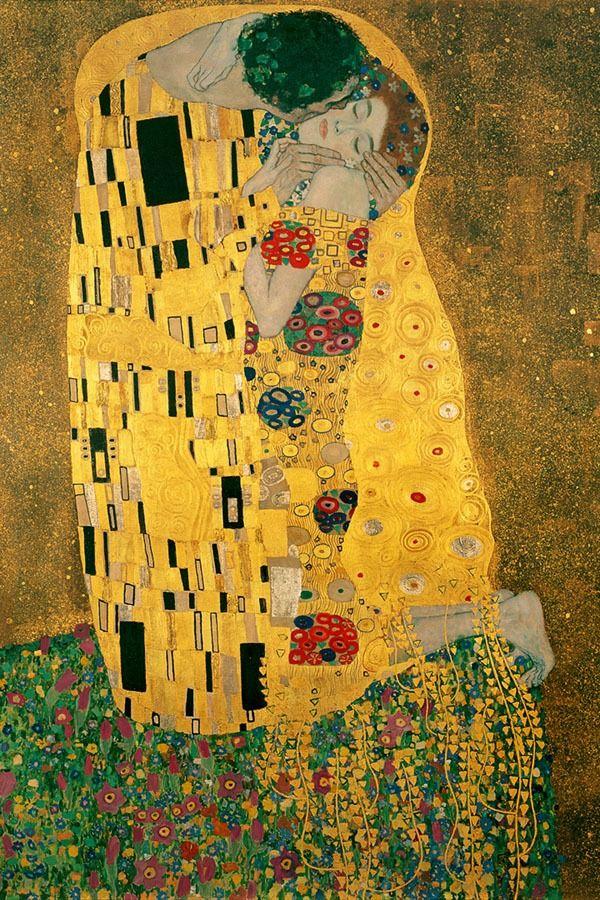 Pocałunek - gustav klimt - plakat wymiar do wyboru: 61x91,5 cm