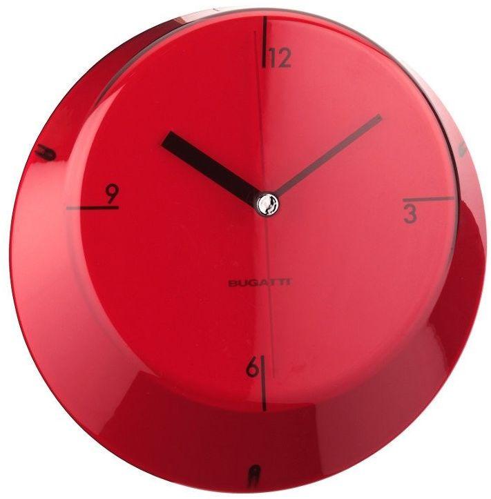 Casa bugatti - glamour - zegar - czerwony - czerwony