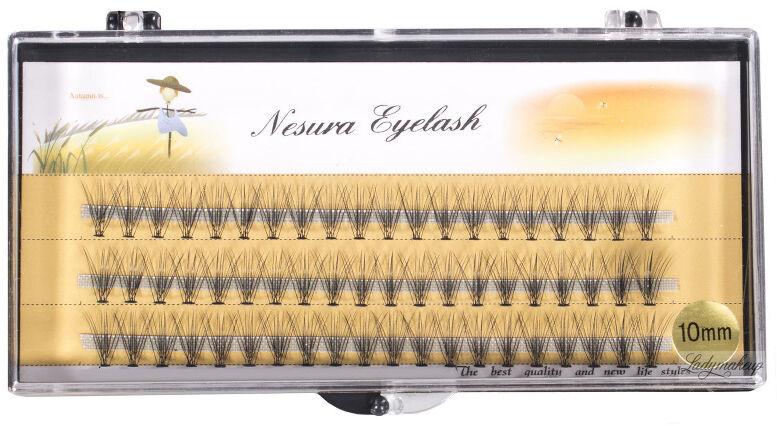Nestura Eyelash - Kępki sztucznych rzęs - Premium - 10 mm