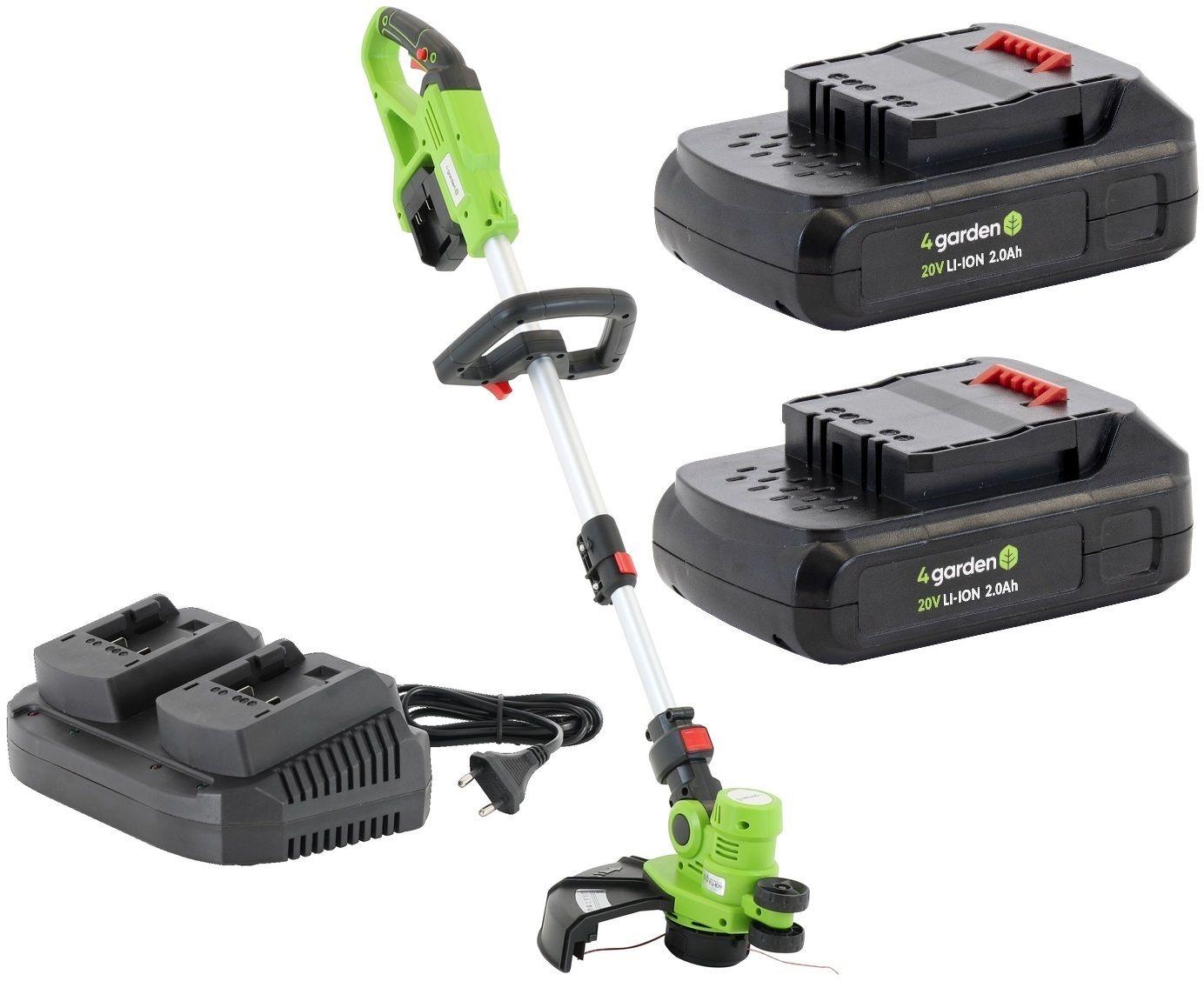 Podkaszarka APK3022 4GARDEN Akumulatorowa + 2x Akumulator 2,0 Ah + Ładowarka podwójna