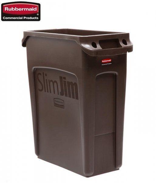 Kosz Slim Jim  With Venting 60L Brown