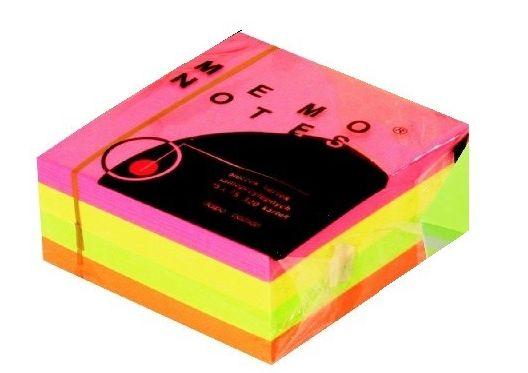 Bloczek samoprzylepny Memo, 75 x 75 mm, 320 kartek, mix neonowy -  Rabaty  Porady  Hurt  Wyceny   sklep@solokolos.pl   tel.(34)366-72-72