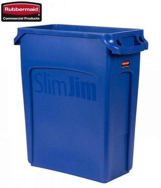 Kosz Slim Jim  With Venting 60L Blue