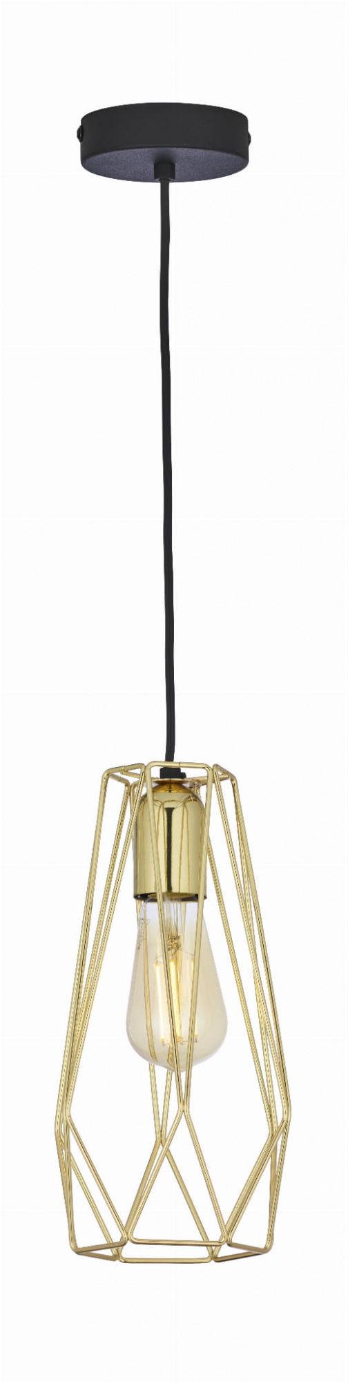 Lampa wisząca Lugo Gold 2696 TK Lighting nowoczesna oprawa w kolorze czarnym
