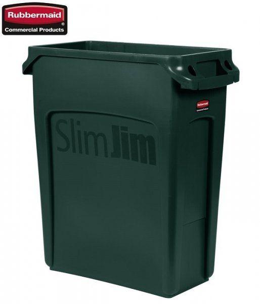 Kosz Slim Jim  With Venting 60L Green
