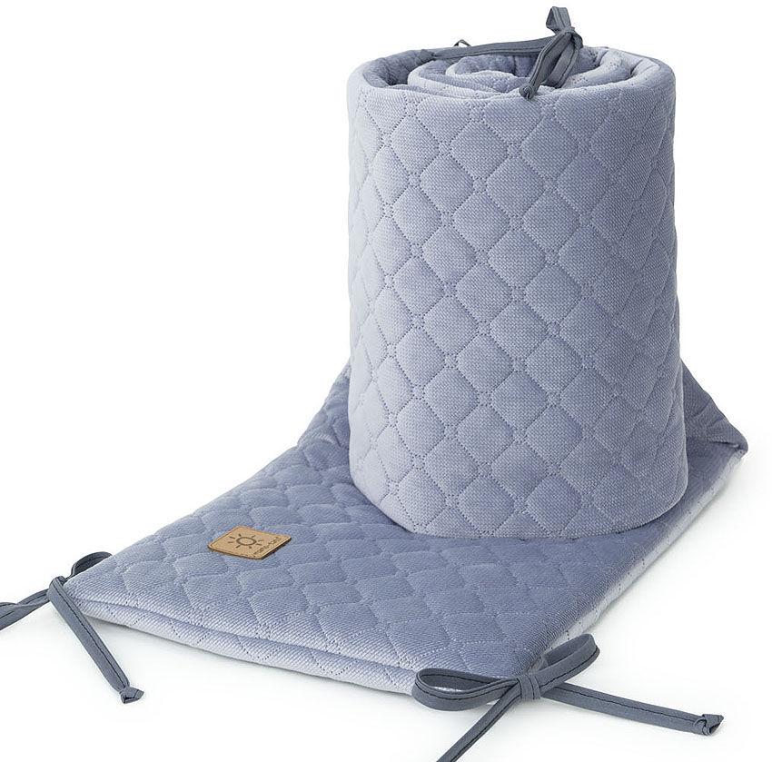 MAMO-TATO Ochraniacz do łóżeczka 60x120 oraz 70x140 Velvet PIK - Szary