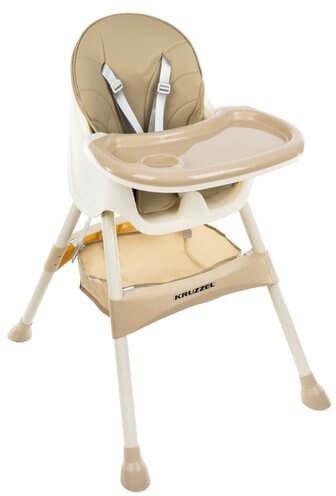 Krzesełko do karmienia KRUZZEL - Beżowe