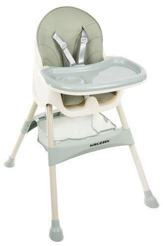 Krzesełko do karmienia KRUZZEL - Jasnozielone