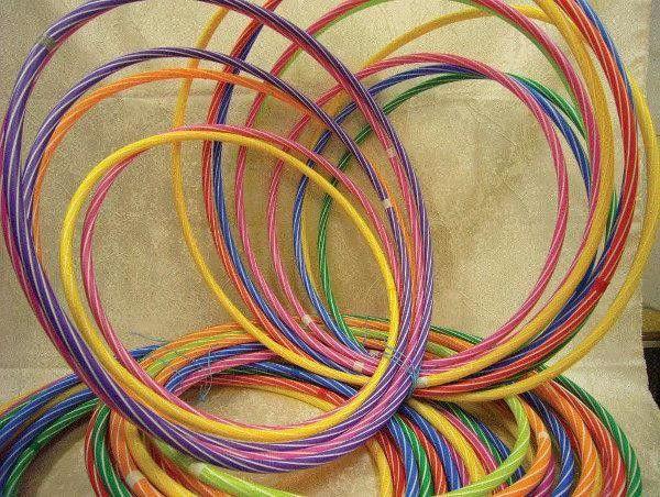 Hula Hop śr.60 cm paski mix kolorów CZAKO 9463