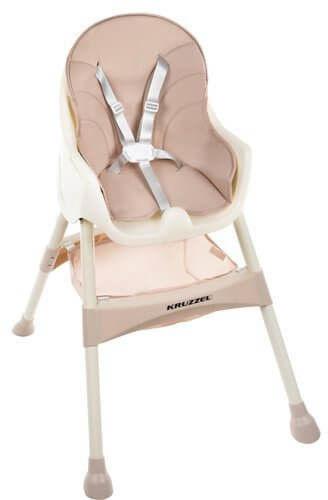 Krzesełko do karmienia KRUZZEL - Różowe