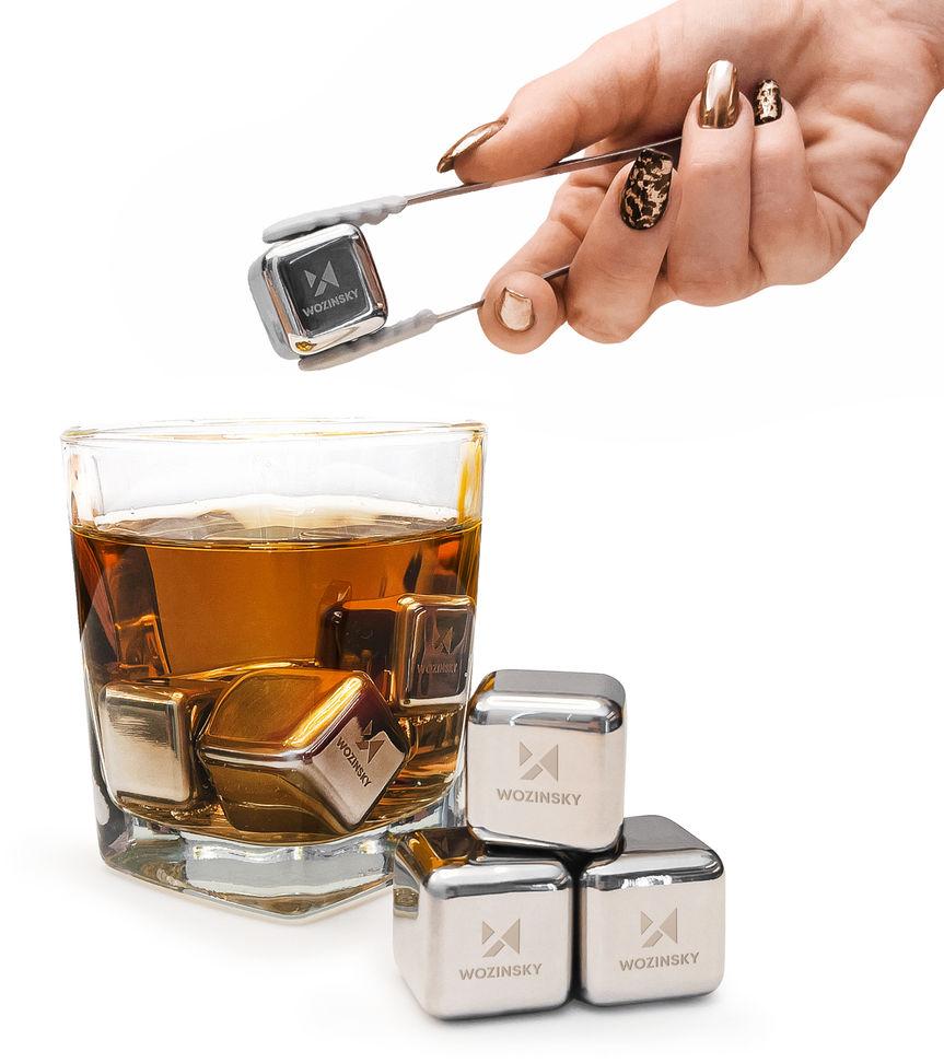 Wozinsky stalowe metalowe kostki chłodzące do napojów / drinków (WIC-S01)