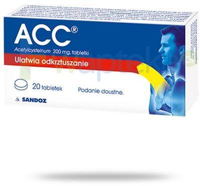 ACC 200mg (Acetylcysteinum) 20 tabletek powlekanych