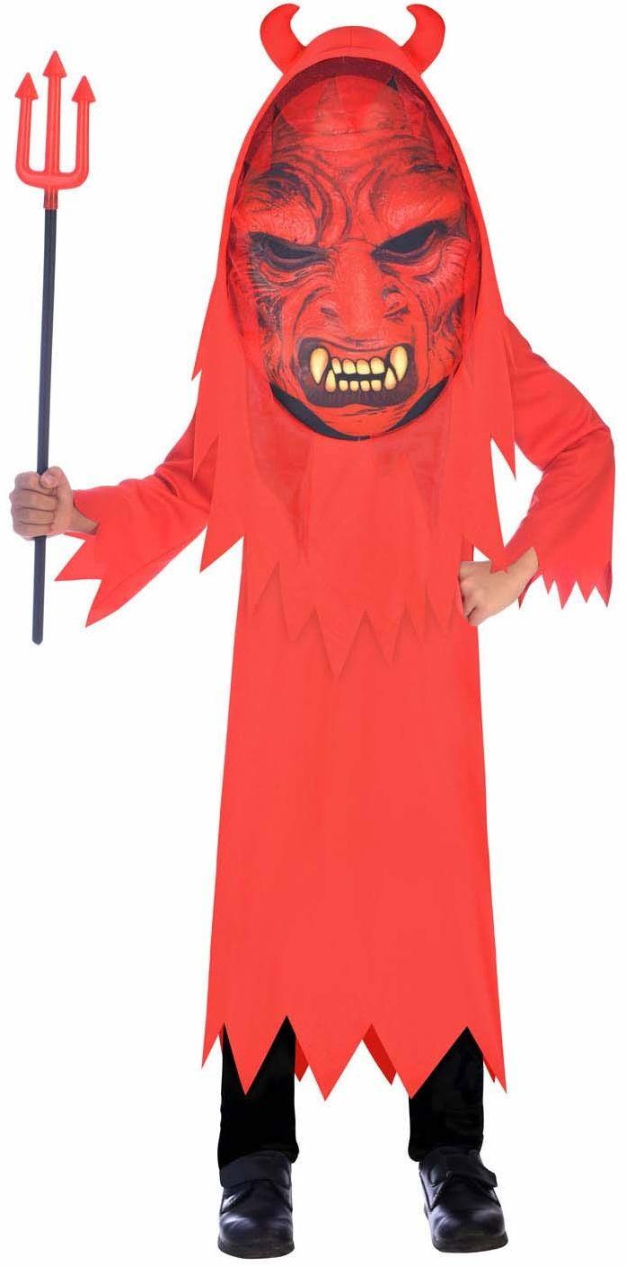 Amscan 9907126 - kostium dziecięcy diabeł, żabka, maska diabelska, Devil, impreza tematyczna, karnawał, Halloween