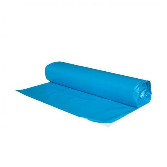 Worki na śmieci 60 L niebieskie LDPE 50 sztuk w rolce