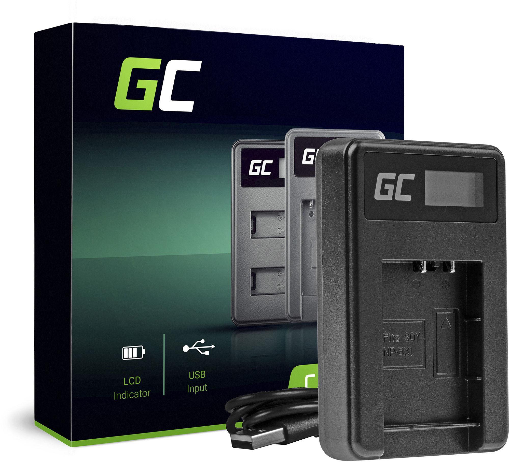 Ładowarka BC-TRX Green Cell  do Sony Action Cam NP-BX1, Cyber Shot DSC-HX50V HX300 HX400 RX100II RX100MII RX100V RX100V AS15