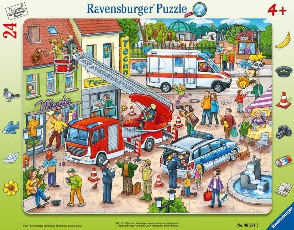 Puzzle 24el Na ratunek zwierzakom 065813 RAVENSBURGER (RAP 065813)