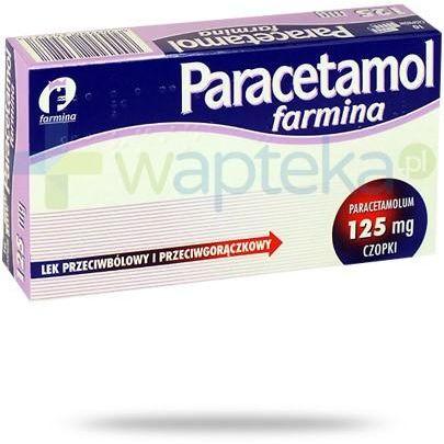 Paracetamol Farmina czopki 125mg 10 sztuk