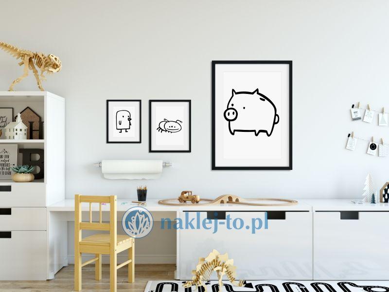 naklejka Świnka naklejka na ścianę