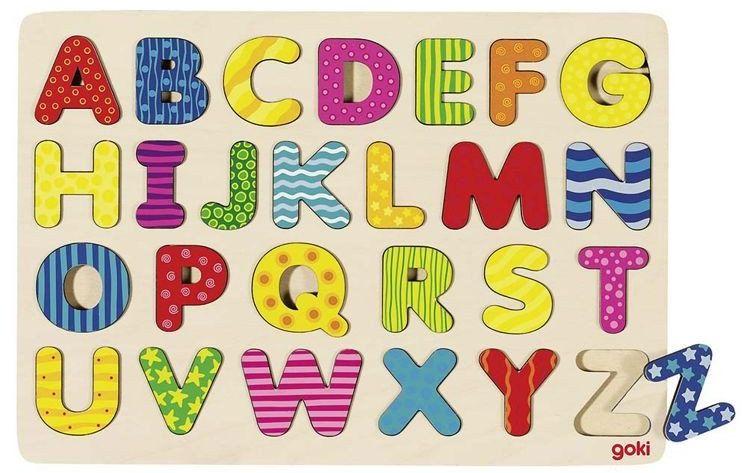 Nauka alfabetu dla dzieci. Kolorowe literki, goki