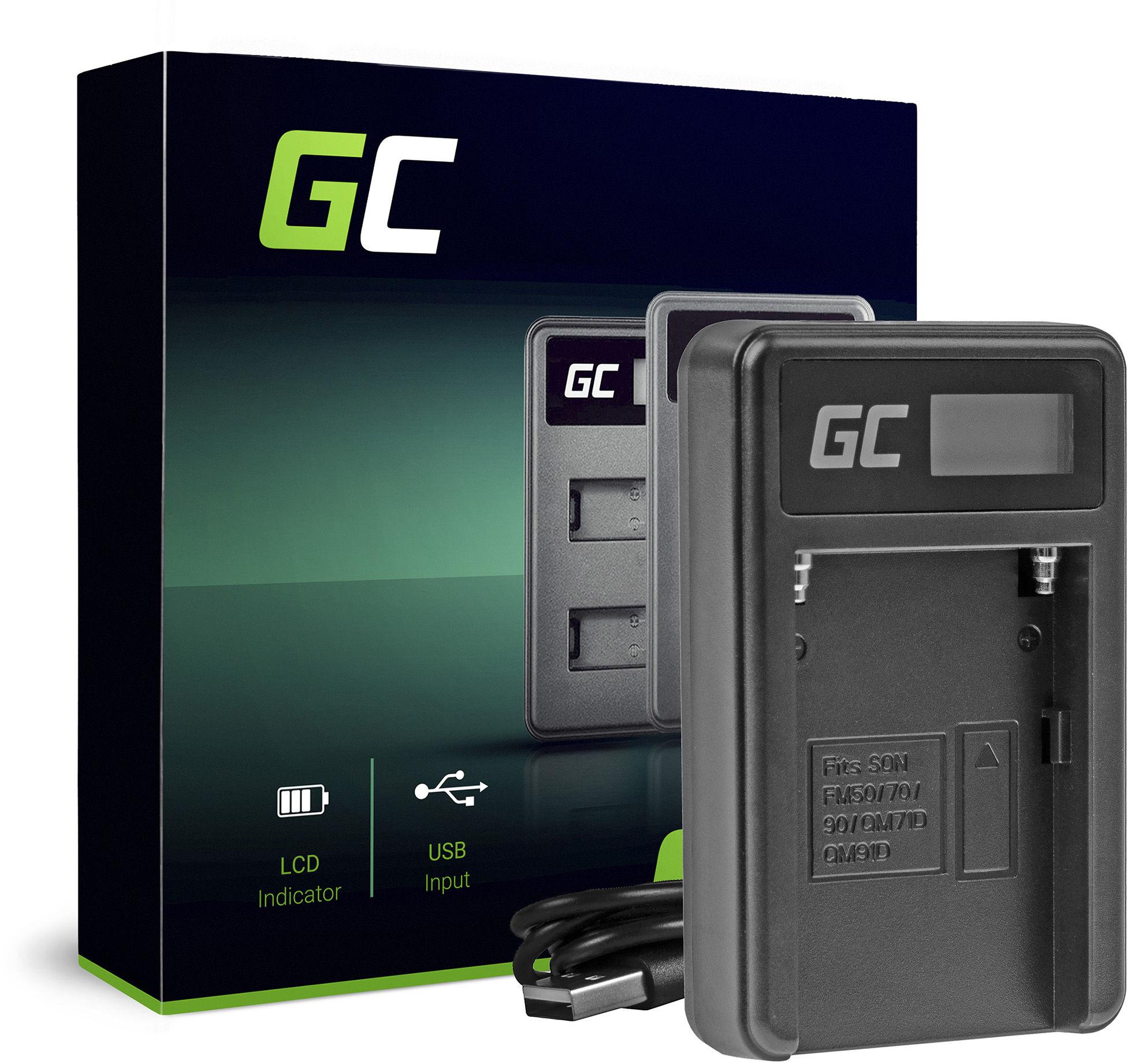 Ładowarka AC-VL1 Green Cell  do Sony NP-F970, A58 A65 A77 A99 A900 A700 A850 SLT A99 II UPX CCD CR CRX10U CVX DCM DCR EVO
