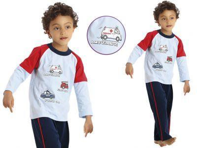 Piżama dziecięca JOEL: błękit/granat