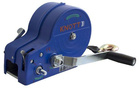 Wciągarka 1150 kg Knott z pasem obudowa niebieska