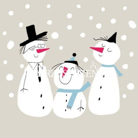 SERWETKI PAPIEROWE Bałwanki na śniegu