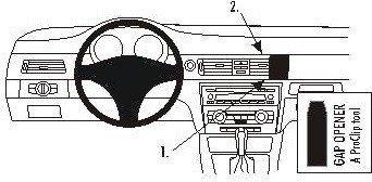 ProClip do BMW 316-330/E90/E91 05-12