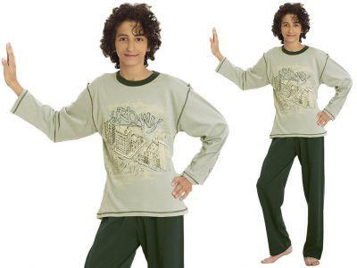 Piżama dziecięca ALAN: khaki