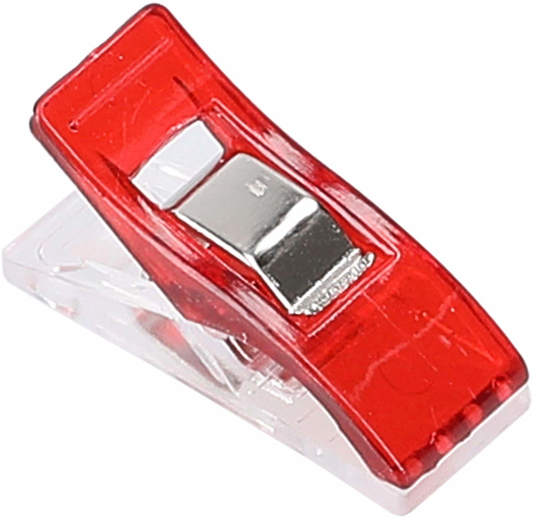 mumbi 30698 klamerki do materiału, tworzywo sztuczne, czerwone, 30