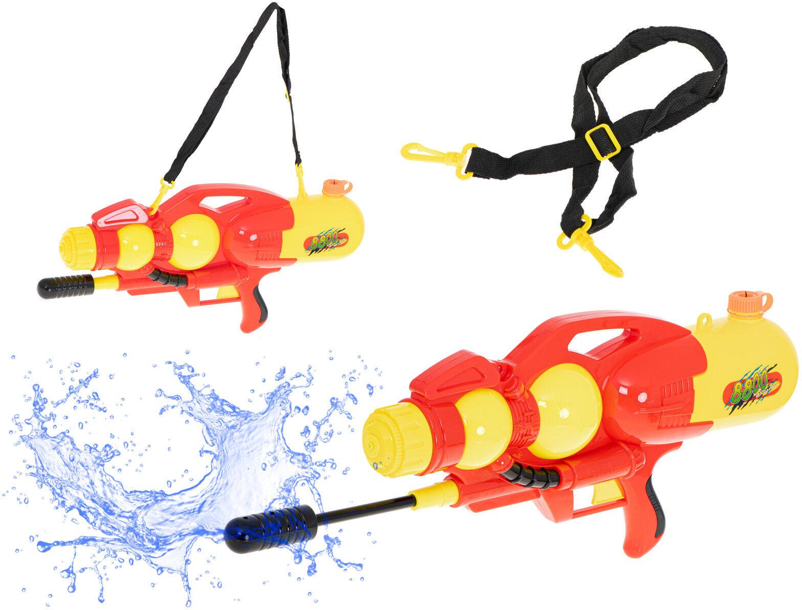 Pistolet na wodę wyrzutnia wodna 2400ml czerwony