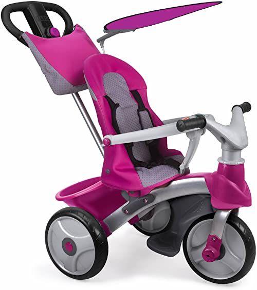 Feber 800009561 Trike Easy Evoluton różowy trójkołowiec, 79,0 x 63,0 x 42,4