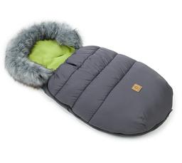 MAMO-TATO Zimowy śpiwór do wózka - Grafit / avokado