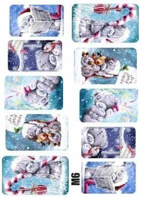 Naklejki świąteczne na paznokcie M6