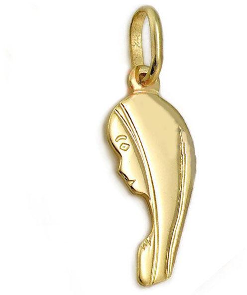 Złoty medalik 585 popiersie Matki Boskiej 0.41g