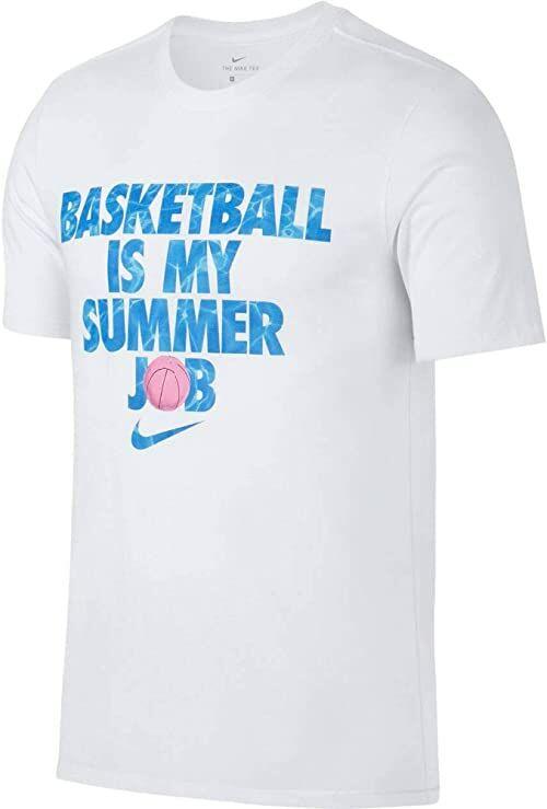 Nike koszulka męska Dri-Fit Koszykówka lato Praca T-shirt biały XXL
