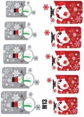 Naklejki świąteczne na paznokcie M13