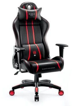 Fotel DIABLO CHAIRS X-One 2.0 (L) Czarno-czerwony Dogodne raty! DARMOWY TRANSPORT!