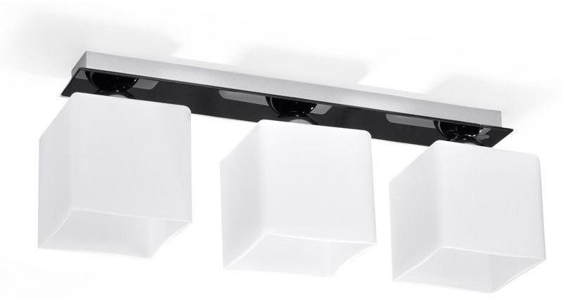 Sollux - plafon piazza 3 - czarny