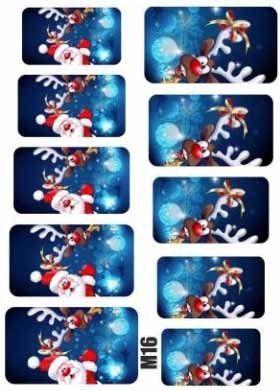 Naklejki świąteczne na paznokcie M16