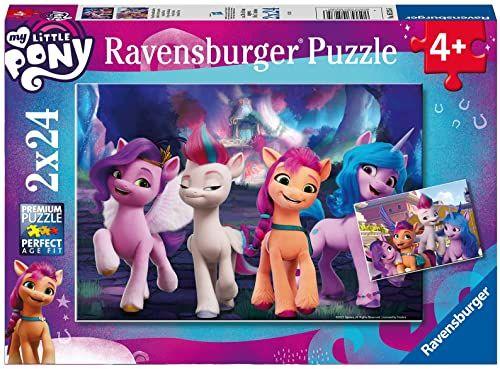 Ravensburger Kinderpuzzle 05235 - My little Pony Movie - 2x24 Teile Puzzle für Kinder ab 4 Jahren