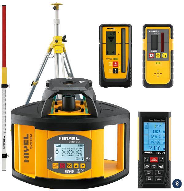Niwelator laserowy Nivel System NL540 DIGITAL + SJJ32 + LS-24