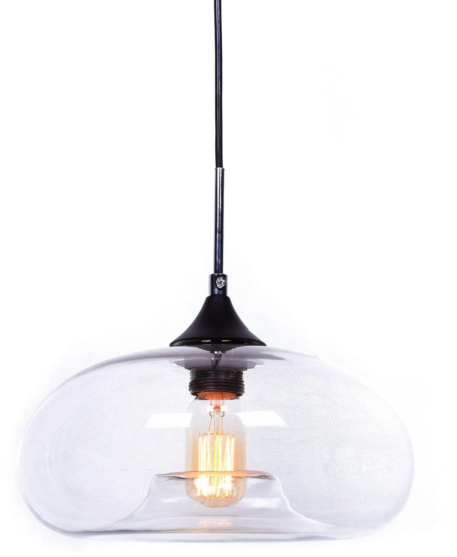 NOWOCZESNA LAMPA WISZĄCA SKANDYNAWSKA BROSSO D30 CLEAR