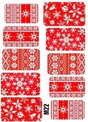 Naklejki świąteczne na paznokcie M22
